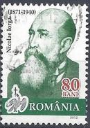 ROMANIA 2012 Personalities – Portraits On Romanian Banknotes; Nicolaie Iorga Postally Used MICHEL # 6599