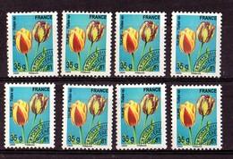 2011  YT / 260  Lot De 8 Timbres  Tulipes