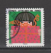 """FRANCE / 2015 / Y&T N° AA 1196 : """"Bonne Année"""" (Cadeau & Fillette Aux Cheveux Noirs) - Choisi - Cachet Rond - Frankreich"""