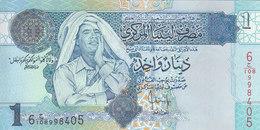 LIBYA 1 DINAR 2004 P-68b SIG/7 Bengadara UNC */* - Libya