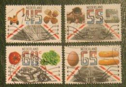 EXPORT Railway, Airport, Cheese NVPH 1228-1231 (Mi 1189-1192); 1981 Gestempeld / USED NEDERLAND / NIEDERLANDE