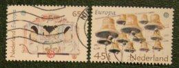 Europa Cept Zegels NVPH 1225-1226 (Mi 1186-1187) 1981 Gestempeld / USED NEDERLAND / NIEDERLANDE