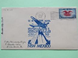 USA 1940 First Flight Cover Roswell To Villa Nova - Eagle - Plane