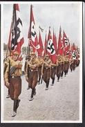 """Sammelbild Propaganda , """" Deutschland Erwacht """" Bild 215 , Fahnenaufmarsch Der SA  , Farbig"""