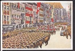 """Sammelbild Propaganda , """" Deutschland Erwacht """" Bild 223 , Appell Der 100000 SA Männer Reichsparteitag Nürnberg , Farbig"""