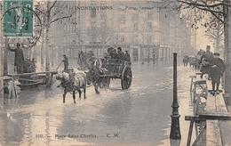 75 - Paris - Inondations - Janvier 1910 - Place Saint-Charles - Inondations De 1910