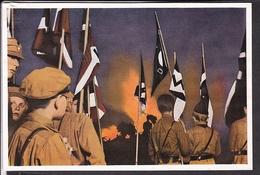 """Sammelbild Propaganda , """" Deutschland Erwacht """" Bild 63, Sonnwende HJ , Farbig"""