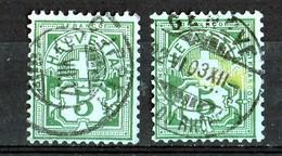 1906  Mi / 84    Belles Oblitérations  Par 2