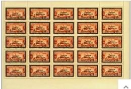 Turkey,Sandjak Alexandrette&Hatay,Armenia,Syria,10/11/1938, 0,75 P. 25 Stamps.,sheet,MNH,So Rare.