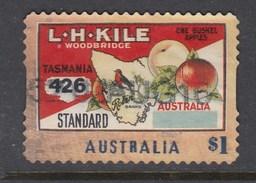 Australia 2016 Nostalgic Fruit Labels - Tasmanian Apple - Die Cut Used