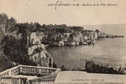 CPA 06 CAP D´ANTIBES Rochers De La Villa Eilenroc - Antibes