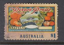 Australia 2016 Nostalgic Fruit Labels - Rivers Pride Navel Oranges - Die Cut Used