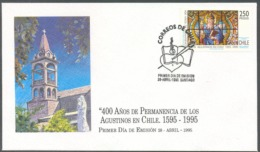 RELIGION/COVER, CHILE 1995 - ORDER OF ST.AUGUSTINE, FDC - Chili