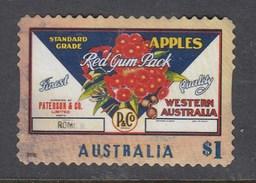 Australia 2016 Nostalgic Fruit Labels - Western Australia Apples- Die Cut Used