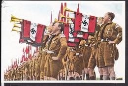 """Sammelbild Propaganda , """" Deutschland Erwacht """" Bild 62, Fanfaren Der Hitlerjugend   , Farbig"""