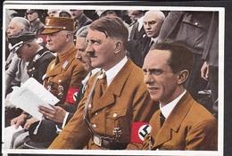 """Sammelbild Propaganda , """" Deutschland Erwacht """" Bild 147, Hitler , Göbbels ,Deutsches Turnfest Stuttgart   , Farbig"""