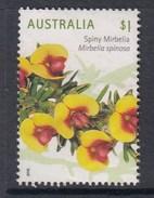 Australia 2016 Wildflowers - $1 Spiny Mirbelia Sheet Used