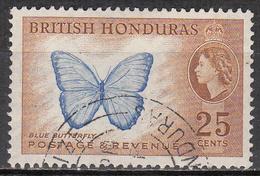 BRITISH HONDURAS      SCOTT NO. 151    USED      YEAR  1953 - British Honduras (...-1970)