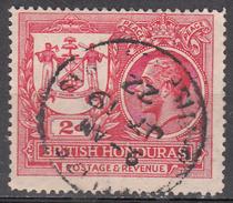 BRITISH HONDURAS      SCOTT NO. 89    USED      YEAR  1921 - British Honduras (...-1970)