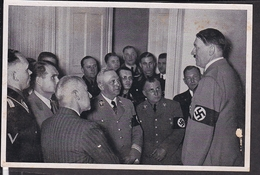 """Sammelbild Propaganda , """" Adolf Hitler  """" Bild 198 , Schwarz -weiß"""