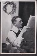 """Sammelbild Propaganda , """" Adolf Hitler  """" Bild 195 , Schwarz -weiß"""
