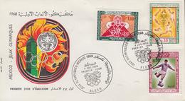Enveloppe  FDC  1er  Jour   ALGERIE   Jeux  Olympiques  MEXICO   1968