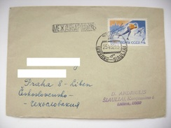 Soviet Union/USSR - Cover 1962 From Siauliai (now Lithuania) To Czechoslovakia - Stamp  Ice Skating Championship Mi 2575