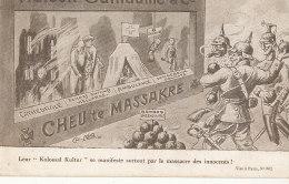 MILITARIA )) CARICATURE POLITIQUE   MAISON GUILLAUME ET CIE   CHEU DE MASSACRE - Other