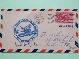USA 1946 First Flight Cover Keene To St. Louis - Plane - Ski - Etats-Unis