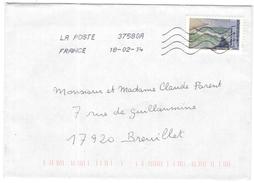 FRANCIA - France - 2014 - Lettre Verte 20g L'homme à La Barre Paris Musée D'Orsay Théo Van Rysselberghe - Viaggiata Da 3