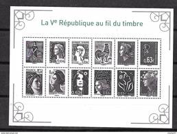 France: N°F4781 La Vème République Au Fil Du Timbre