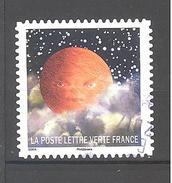 France Autoadhésif Oblitéré (Correspondances Planétaires - N°9) (Cachet Rond)