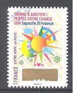France Autoadhésif Oblitéré (Plus Que Des Voeux Avec Le Timbre à Gratter - N°1) (Cachet Rond)