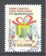 France Autoadhésif Oblitéré (Plus Que Des Voeux Avec Le Timbre à Gratter - N°2) (Cachet Rond)