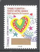 France Autoadhésif Oblitéré (Plus Que Des Voeux Avec Le Timbre à Gratter - N°3) (Cachet Rond)
