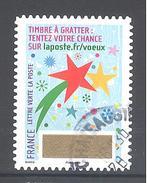 France Autoadhésif Oblitéré (Plus Que Des Voeux Avec Le Timbre à Gratter - N°4) (Cachet Rond)