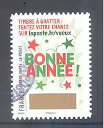 France Autoadhésif Oblitéré (Plus Que Des Voeux Avec Le Timbre à Gratter - N°5) (Cachet Rond)