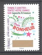 France Autoadhésif Oblitéré (Plus Que Des Voeux Avec Le Timbre à Gratter - N°7) (Cachet Rond)