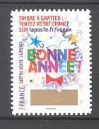 France Autoadhésif Oblitéré (Plus Que Des Voeux Avec Le Timbre à Gratter - N°8) (Cachet Rond)