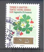 France Autoadhésif Oblitéré (Plus Que Des Voeux Avec Le Timbre à Gratter - N°11) (Cachet Rond)