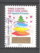 France Autoadhésif Oblitéré (Plus Que Des Voeux Avec Le Timbre à Gratter - N°12) (Cachet Rond)