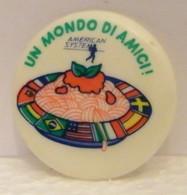 MONDOSORPRESA,(SC38) SPILLA, PINS, MATERIALE PLASTICA, MOTTA ANNI 80, UN MONDO DI AMICI, AMERICAN SISTEM, SPAGHETTI - Food