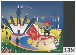 """RIPUBBLICA DI KOSOVO / KOSOVA - EUROPA 2010 - Annuale Tema: """"LIBRI PER BAMBINI"""".- FOGLIOTI – Dent  13 ¼ - RARA - Europa-CEPT"""