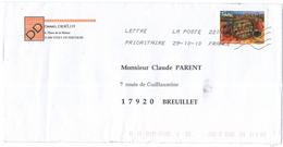 FRANCIA - France - 2010 - Lettre Prioritaire 20g Tian - Viaggiata Da 22014A Per Breuillet, France