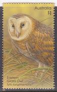 2016. AUSTRALIAN DECIMAL  OWLS.  $1. Eastern Grass Owl. FU.