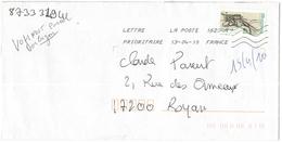 FRANCIA - France - 2010 - Lettre Prioritaire 20g Lyre - Viaggiata Da 16234A Per Royan, France