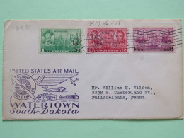 USA 1937 First Flight Cover Watertown To Philadelphia - Navy Issue Ship Decatur MacDonough Jones Barry Farragut Porter