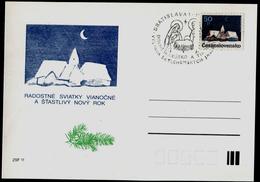 785-CZECHOSLOVAKIA Postal Card With Imprint Exhibition Bethlehem Lower Austria And Tyrol Commemorative Stamp 1990