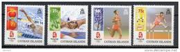 Cayman Islands 2008 Olympic Games Beijing, Swimming, Athletics Set Of 4 MNH - Zomer 2008: Peking