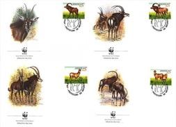 Angola 1990, WWF, Antelopes, 4FDC